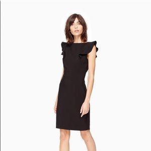KATE SPADE Flutter Sleeve Sheath Dress In Black